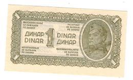 Yugoslavia 1 Dinar 1944 , UNC. Free Economic Ship. To USA - Yugoslavia