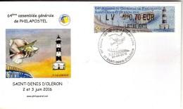 Lettre 64 Eme Assemblée Générale De Philapostel St Denis D Oléron Vignette Lisa Sur Lettre - 1961-....