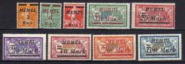 Memel (Klaipeda) 1922 Mi 110-118 * (Mi 118 **) [301016XIII] - Memelgebiet