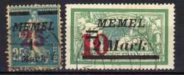 Memel 1923 Mi 121-122, Gestempelt [301016XIII] - Memelgebiet