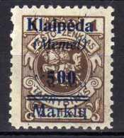Memel / Klaipeda 1923 Mi 134 * [301016XIII] - Memelgebiet