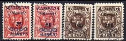 Memel / Klaipeda 1923 Mi 137-140, Gestempelt [301016XIII] - Memelgebiet