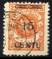 Memel (Klaipeda) 1923 Mi 170, Gestempelt [301016XIII] - Memelgebiet