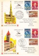 België, 1948, PR83/PR100, Op Kaarten Imaba, Verzonden Van Brussel Naar Bazel En Retour (07819) - Vliegtuigen