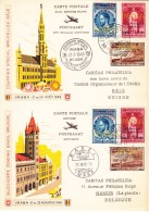 België, 1948, PR83/PR100, Op Kaarten Imaba, Verzonden Van Brussel Naar Bazel En Retour (07820) - Vliegtuigen