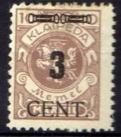 Memel (Klaipeda) 1923 Mi 186 * [301016XIII] - Memelgebiet