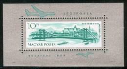 HUNGARY-1964.Souvenir Sheet - Elizabeth Bridge MNH! - Blocks & Kleinbögen