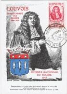 FR-CM15 - FRANCE N° 779 Louvois Carte Maximum Journée Du Timbre Colmar 1947 - 1940-49