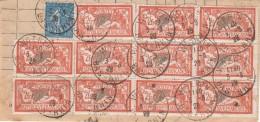 Y &T 145 X 11 Sur Grand Fragment Obl WOERTH Du 3.8.1924 - 1900-27 Merson