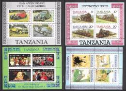 T 00110 - Tanzanie, Blocs N° 41,42,47 Et 52 Neufs Luxe Côte 40.00 €