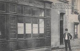 CARTE POSTALE ORIGINALE PUBLICITE ANCIENNE : LA BANQUE DE LA SOCIETE GENERALE DE BAIN DE BRETAGNE ; ILLE ET VILAINE (35) - Banques