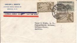Luftpost - Brief Von Oscar L. Mertz, Mexico An Bunzl & Biach, Wattens ( Tirol ); 1937 - Mexiko