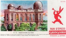 Buvard Pain D'épices GRINGOIRE  Observatoire De Paris N° 55  Pithiviers En Gatinais - Alimentaire