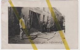 BELGIQUE FLANDRE LICHTERVELDE CARTE PHOTO ALLEMANDE MILITARIA 1914/1918 WW1 WK1 - Lichtervelde