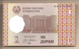 Tagikistan - Banconota Non Circolata FdS Da 1 Diram - 1999 - Tagikistan