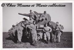 CHAR TANK DUROC ET SES TANKISTES - PHOTO MILITAIRE 8.5 X 6 CM - Guerre, Militaire
