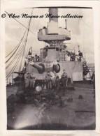 CROISEUR CUIRASSE - NAVIRE DE GUERRE - SUR LE PONT - PHOTO MILITAIRE 12 X 9 CM - Guerre, Militaire