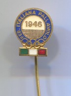 VOLLEYBALL, Pallavolo, Voleibol - ITALY Federation, Olympic Olimpiade, Vintage Pin Badge, Abzeichen, Enamel - Volleyball