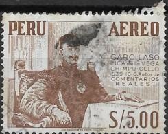 PERU 1952 Air. Garcilaso (portrait) - 5s. - Brown  AVU - Pérou