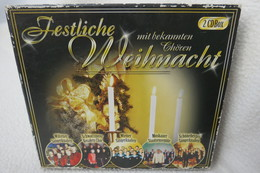 """2 CDs Box """"Festliche Weihnacht"""" Mit Bekannten Chören - Chants De Noel"""