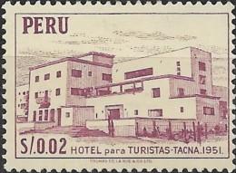 PERU 1952 Hotel Tacna - 2c. - Purple MH - Peru