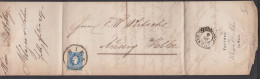 Faltbrief 1859 Aus Wien Factura Klager & Sohn Nach Aussig Elbe 15 Kreuzer Franz Joseph, MiNr. 15, Mit Text - Briefe U. Dokumente