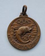 1959 - Old Medal- Fishing, Pesca, Pêche - Campionato Provinciales Aque Interne Di Milano - Fishing