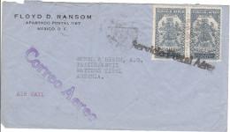 Luftpost - Brief Von Floyd D. Ransom ( Mexico ) An Papierfabrik Bunzl & Biach ( Wattens )Tirol, 1939 - Paar 40 Cent - Mexiko