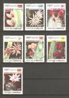 CAMBODIA 1990 - CACTUS FLOWERS  - CPL. SET - USED OBLITERE GESTEMPELT USADO - Sukkulenten
