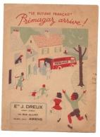 Protège-cahiers Le Butane Français Primagaz Arrive - Avec Tables De Multiplications Et Autres Au Dos - Electricité & Gaz