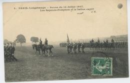 PARIS - XVIème Arrondissement -  Longchamps - Revue Du 14 JUILLET 1907 - Les Sapeurs Pompiers Et Le Ballon Captif - Sapeurs-Pompiers