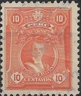 PERU 1924 Portraits - 10c. - Red (A. B. Leguia)  FU - Peru