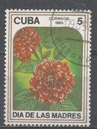 Cuba 1985. Scott #2791 (U) Mother's Day, Dahilas * - Cuba