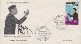 Enveloppe  FDC  1er  Jour    TCHAD    Président   John  KENNEDY   1964 - Chad (1960-...)