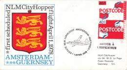Nederland - 1ste Vlucht - 1 April 1978 - Amsterdam-Guernsey - Vl. Hol. 947a - Marcofilie - EMA (Print Machine)