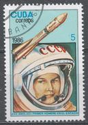 Cuba 1986. Scott #2853 (U) 1st Man In Space, 25th Anniv. Valentina Tereshkova, Vostok * - Cuba