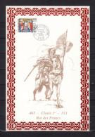 """FRANCE 1996 : Encart 1er Jour N°té / Soie Rare (298/1000) Edit° A.M.I.S. : """" CLOVIS Ier """". N° YT 3024. Parf état. - Non Classificati"""