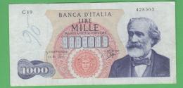 1000 Verdi I° Tipo 7/1963 R2 - [ 2] 1946-… : Repubblica