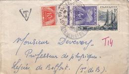 Lettre Belfort Taxe Gerbe Pour Belfort Local - Lettres Taxées