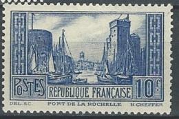 """YT 261 """" Port De La Rochelle Type III Outremer """" 1929-31 Neuf *"""