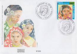Enveloppe  FDC  1er  Jour    MAYOTTE     Masque  De  Fête    CHIRONGUI    2003