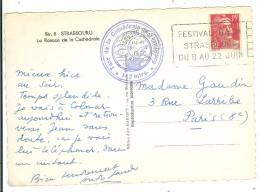 STRASBOURG PL DE LA GARE - Festival Bach Strasbourg Du 8 Au 22 Juin - Marcophilie (Lettres)