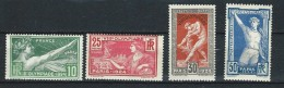 """Yt 183 à 186 """" Jeux Olympiques De Paris """" 1924 Neuf *"""