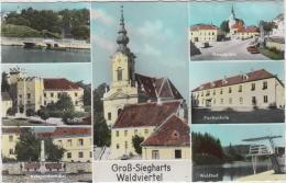 AK - NÖ - Gr. Siegharts - Mit Schule Und Hauptplatz - Waidhofen An Der Thaya