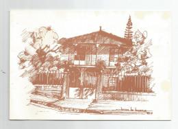 Nouvelle Calédonie Maison Illustré édité Pour Les Meilleurs Voeux Carte Double - Nouvelle Calédonie