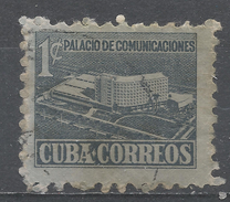 Cuba 1952. Scott #RA16 (U) Proposed Communications Building * - Timbres-taxe