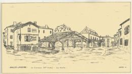 AVAILLES-LIMOUZINE - Dessin -Le Caveau Et La Halle - Availles Limouzine