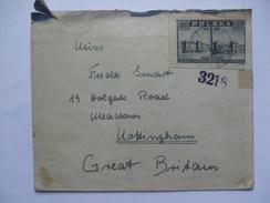 POLAND 1945 COVER BOZA GORA TO NOTTINGHAM UK - 1944-.... Republic