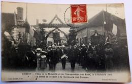 CPA  89 Vinneuf - Fête De La Mutualité Et De L'inauguration Des Eaux, Le 2 Octobre 1910 - Sapeurs-Pompiers