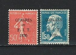 """YT 264 Et  265 """" Congès Du BIT Semeuse Et Pasteur """" 1930 Neuf**"""